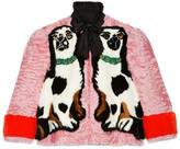 Gucci Spaniel dogs intarsia fur jacket