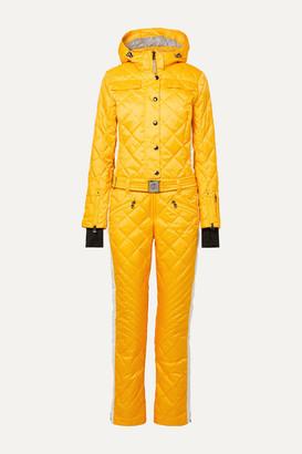 Bogner Greta Belted Quilted Padded Ripstop Ski Suit - Saffron