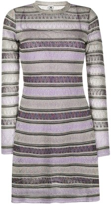 M Missoni Metallic Long Sleeve Dress