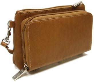 Piel Leather Shoulder Bag Wristlet