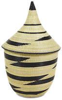 "All Across Africa 14"" Zig Zag Huye Basket - Natural/Black"