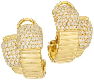Brera Via 18K Yellow Gold & Diamond Double Layer Earrings