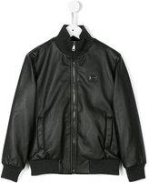 Dolce & Gabbana classic bomber jacket - kids - Calf Leather/Polyester/Viscose - 10 yrs
