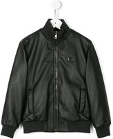 Dolce & Gabbana classic bomber jacket - kids - Calf Leather/Polyester/Viscose - 8 yrs