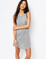 Boohoo Cut Out Back Contrast Trim Dress