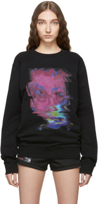 Marcelo Burlon County of Milan Black Graphic Child Sweatshirt
