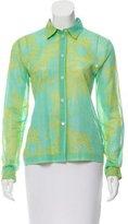 Michael Kors Floral Print Button-Up Top
