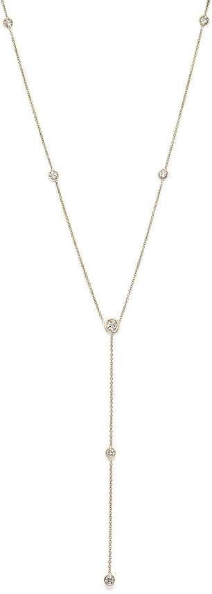 Bloomingdale's Diamond Station Y Necklace in 14K Yellow Gold, .75 ct. t.w.