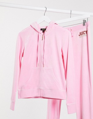 Juicy Couture Black Label Juicy Multi Bling Velour Robertson Jacket in white