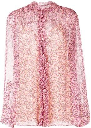 Stella McCartney Ruffle Trim Silk Shirt