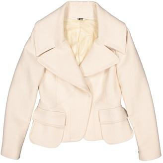 Versace Ecru Wool Jackets