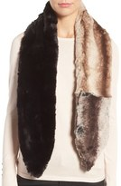 Badgley Mischka Colorblock Faux Chinchilla Scarf