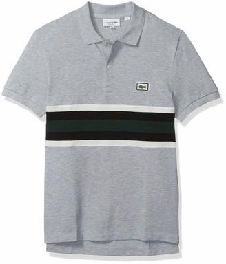 Lacoste Mens Short Sleeve Heavy Pique Bold Stripe Regular Fit Polo Polo Shirt