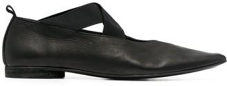 UMA WANG Cross-Strap Ballerina Shoes