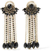 Etro Gold-plated Crystal Earrings - One size