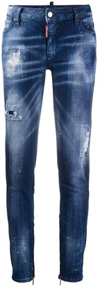 DSQUARED2 Distressed Skinny Tapered Jeans