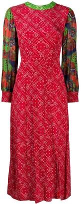 Rixo Emma paisley dress