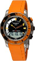 Tissot Men's T0264201728102 Sea-Touch Orange Chronograph Touch Dial Watch