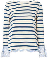 Sea Eyelet Cuff Stripe Top