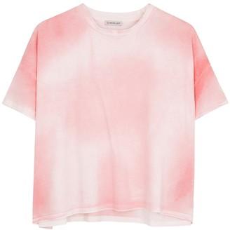 Moncler Pink tie-dye cotton T-shirt