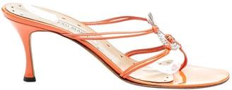 Manolo Blahnik Orange Patent leather Sandals