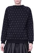Giamba Studded Cotton Sweatshirt