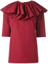 Nina Ricci ruffled neck blouse - women - Cotton - 42