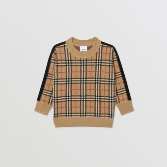 Burberry Check Merino Wool Jacquard Sweater