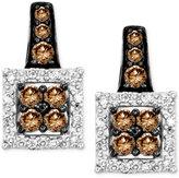 LeVian Le Vian Chocolatier® Diamond Framed Stud Earrings (5/8 ct. t.w.) in 14k White Gold