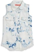 BLANKNYC Denim Sleeveless Shirt (Big Girls)