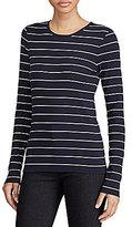 Lauren Ralph Lauren Striped Long-Sleeve Cotton T-Shirt