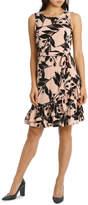 Basque Frill Hem Jersey Dress