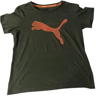 Puma Green Cotton Top for Women
