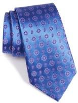 Armani Collezioni Flower Medallion Silk Blend Tie
