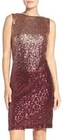 Chetta B Ombré Sequin Sheath Dress