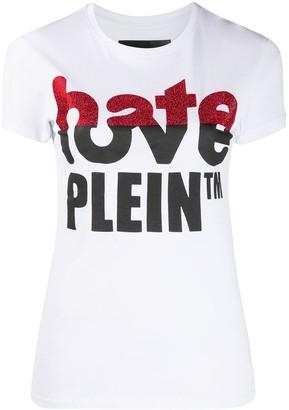 Philipp Plein Love Plein rhinestone T-Shirt