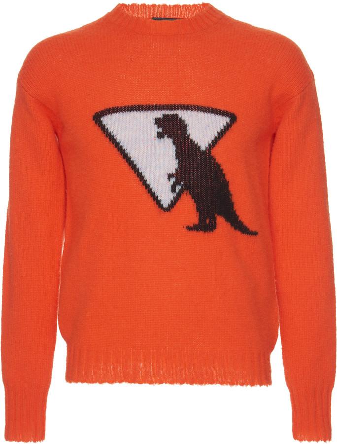 Prada Intarsia-Knit Wool Sweater