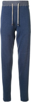 Colombo Two-Tone Cashmere Track Pants