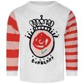 Roberto Cavalli Baby Girls White Mini Rose Stripe Top