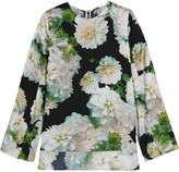 ADAM by Adam Lippes Floral-print satin top