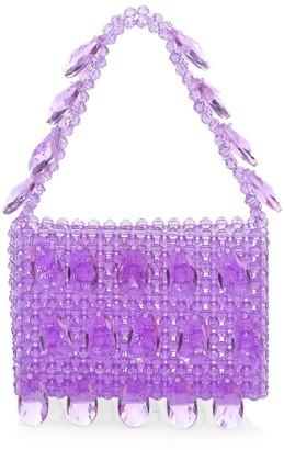 Susan Alexandra Peony Applique Beaded Bag