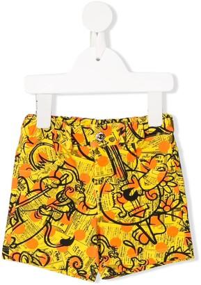 MOSCHINO BAMBINO Collage Print Swim Shorts