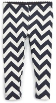 Tea Collection Infant Girl's Chevron Stretch Cotton Leggings