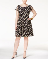 Love Squared Trendy Plus Size Printed Lace Dress