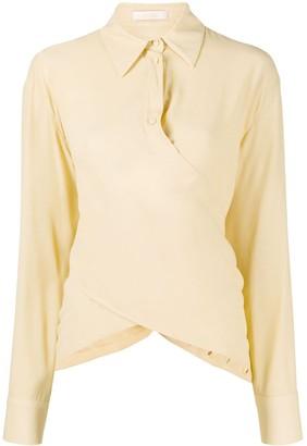 Ssheena Long Sleeve Draped Front Shirt