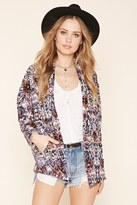 Forever 21 Abstract Print Crepe Blazer