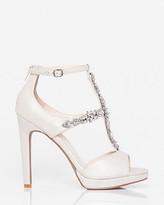 Le Château Jewelled Metallic Foil T-Strap Sandal