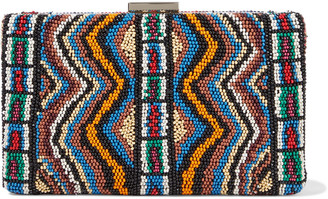Valentino Beaded Leather Box Clutch