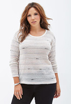 Forever 21 Plus Size Open-Knit Striped Sweater