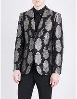 Alexander Mcqueen Paisley Jacquard Regular-fit Notch-lapel Jacket